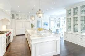 kitchen with built in hutch cabinets ikea transitional glass door