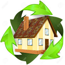 energy saving house environmental and energy saving concept house icon in recycling