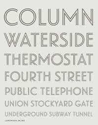 landmark font features four styles hoefler u0026 co