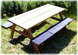 picnic table plans detached benches 8 ft picnic table plans