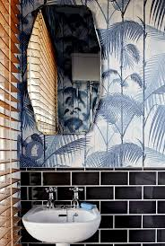 bathroom mesmerizing cool palm tree bathroom black tiles