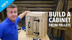 kitchen cabinets made out of pallet wood how to make a pallet cabinet with a door