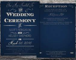 Navy Blue Wedding Invitations Navy Wedding Invites Etsy