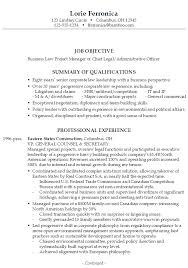Project Manager Example Resume by Resume Chief Business Law Legal Admin Susan Ireland Resumes