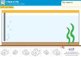 i have a pet worksheet u2013 cut u0026 paste the fish super simple