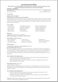 examples for police resume