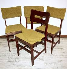 Wood Folding Chairs Set Of Four Mid Century Norquist