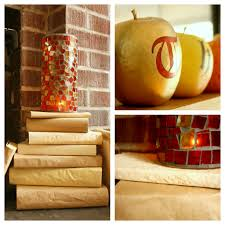 thanksgiving mantel decorations craft thyme