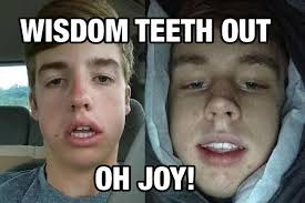 Wisdom Teeth Meme - wisdom teeth removal is memorable experience the purple quill