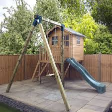 Interesting Outdoor Kids Wooden Playhouse Decorating Ideas Present