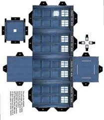 Dr Who Tardis Bookshelf Tardis Bookshelf Plans Custom Cubeecraft Cutout Template Of A