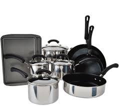 Kitchen Set Aluminium Royal Cook U0027s Essentials 13 Piece Stainless Steel Cookware Set Page 1
