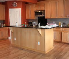 Kitchen Flooring Installation Fake Hardwood Floors In Kitchen Cream Color With Soft Orange Wood