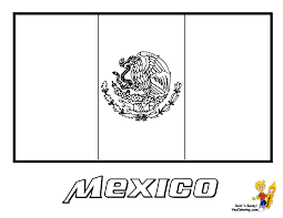 mexico flag coloring page kids mexican flag coloring page flags