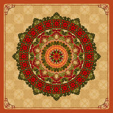 vintage ornamental design colorful arabesques mandala rosette