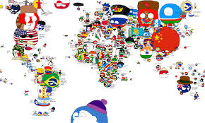 World Map Cartoon by Fanmade Polandball World Map Late 2014 Early 2015 Imgur