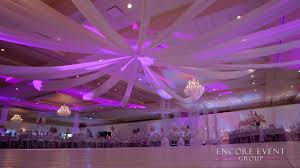 wedding draping ceiling wedding drapery gardens southgate mi encore