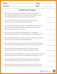 10 5th grade math word problems math cover