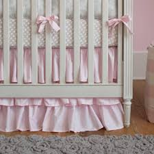 Pink Ruffle Curtains Panels by French Gray And Pink Damask Crib Bedding Carousel Designs