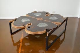 mid century modern george nakashima inspired large rosewood slab