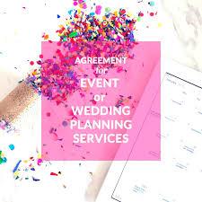 wedding planning organizer template event organizer template agreement for or wedding