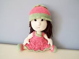 Knitting Home Decor Crochet Pink Doll Kids Toys Baby Shower Home Decor Knitted Doll