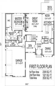 fascinating 4 bedroom one story house plans 5 bedroom storey