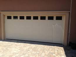 Overhead Door Jacksonville Fl Haas Garage Door 2580 In Almond With Solid Windows Installed By