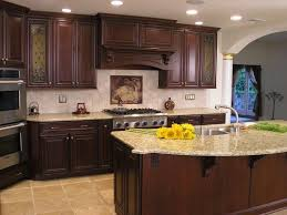 Kitchen Cabinets With Island Kitchen Cabinets Kitchen Granite Counter And Backsplash Dark