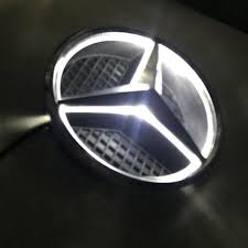 logo mercedes benz 2017 illuminated led light front grille grill star emblem for mercedes