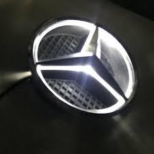 logo mercedes benz 2017 illuminated led light front grille grill star emblem for mercedes