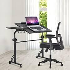 Portable Laptop Desk On Wheels Langria Portable Laptop Desk Black Sofa Bedside Table Adjustable