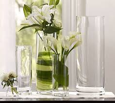 Cylinder Clear Glass Vases Aegean Clear Glass Vases Pottery Barn