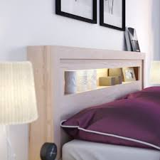 bed frame with lights vox r o bed frame with built in lights in beech effect vox