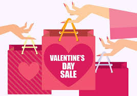 s day sale valentines day sale character vector illustration