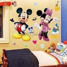 Disney Room Decor Amazon Com Wall Sticker Decal Mickey And Minnie Mouse Kids Room