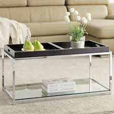 Glass Living Room Table by Table Round Metal And Glass Coffee Table Contemporary Expansive