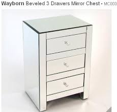 affordable mirrored nightstand bonners furniture