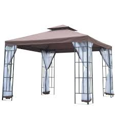 Patio Canopies And Gazebos by Outsunny 3m X 3m Gazebo Marquee Metal Party Tent Canopy Pavillion