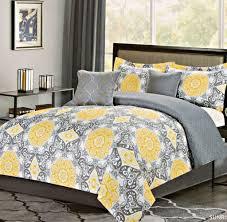 Grey And Yellow Comforters Floor Original Rachel Oliver Yellow Bedding Drapery Bedroom To
