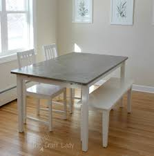 white table with bench agreeable diy concrete dining table top and white wooden sets