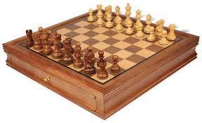 Cool Chess Sets by Deluxe Old Club Staunton Chess Set In Babul Wood U0026 Boxwood With