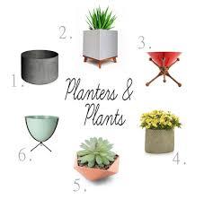 modern plant pots amusing midcentury planter pictures best idea home design