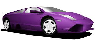 cartoon lamborghini purple sports car clip art at clker com vector clip art online