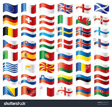 Europe Flags Wavy Flags Set Europe 48 Flags Stock Illustration 55681648