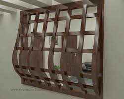 red brown wooden sliding panel ceiling mount room divider with