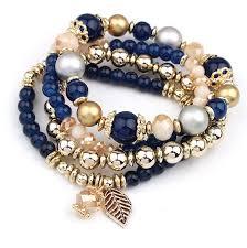 bead bracelet crystal images Tassel multi layer crystal beads bracelet bangles handmade jpg