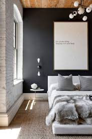 love the dark grey wall used in this bedroom modern bedroom 31