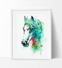equine home decor horse watercolor print horse art print watercolor art animal
