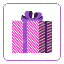 wrapped gift box colorful wrapped gift box icon presents decoration flat design